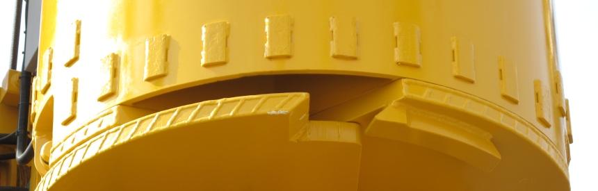 Пластины для защиты от износа на ковшебуре